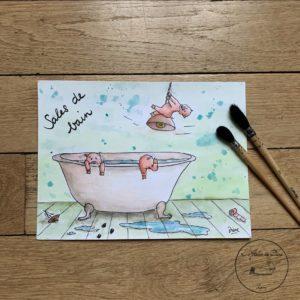 Sales de bain – 3 cochons
