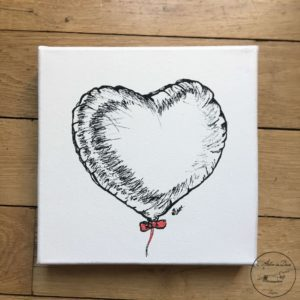 Coeur gonflé 20×20